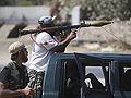 Libyan rebels near Tripoli