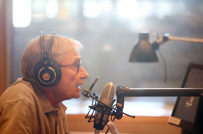 Gary Eichten, host of Minnesota Public Radio's Midday program, works in the studio in St. Paul, Minn. Monday, Aug. 22, 2011.