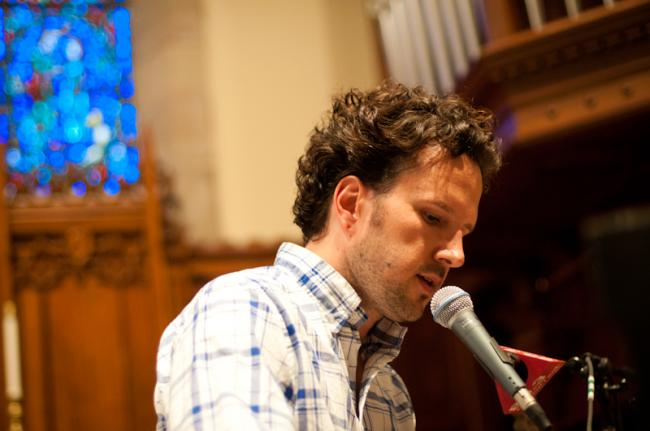 Mason Jennings at the Westminster Chapel in Minneapolis.
