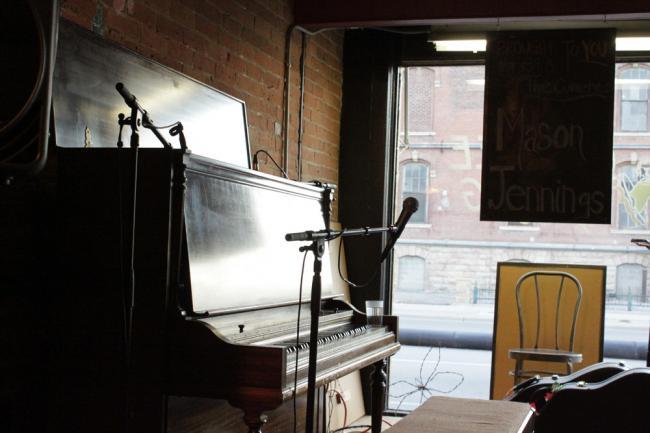 The piano at the Coffee Hag in Mankato