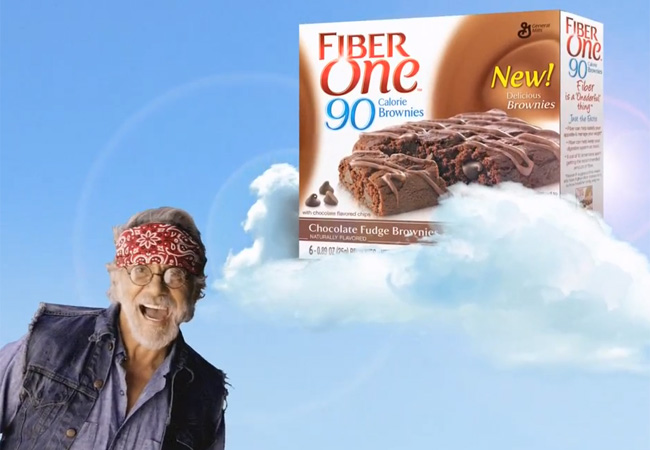 Tommy Chong stars in the marketing campaign for the company's Fiber One new 90 calorie Magic Brownies.