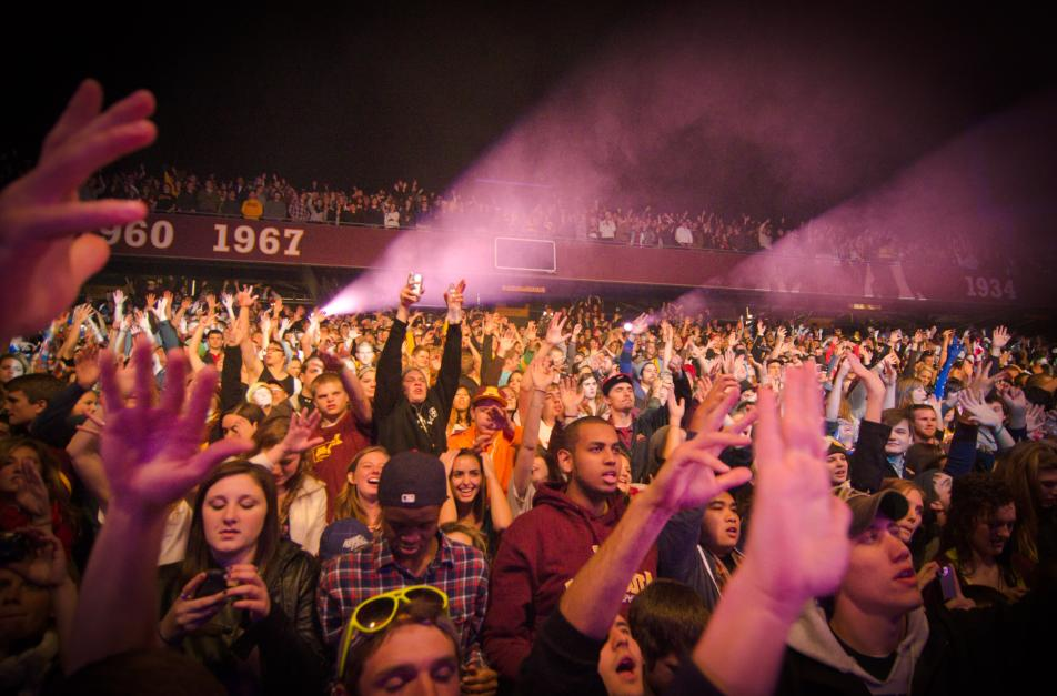 The crowd at Atmosphere's TCF Bank Stadium concert