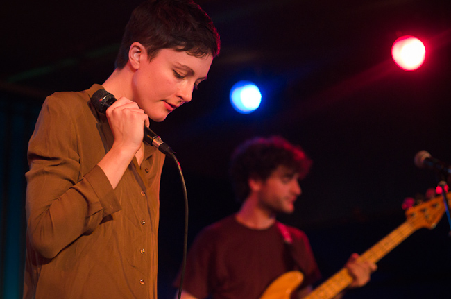 Singer Channy Caselle and bassist Chris Bierden of Polica.