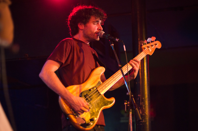 Bassist Chris Bierden of Polica.