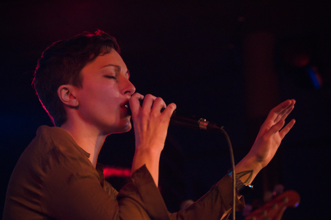 New local band Polica perform at the Turf Club.