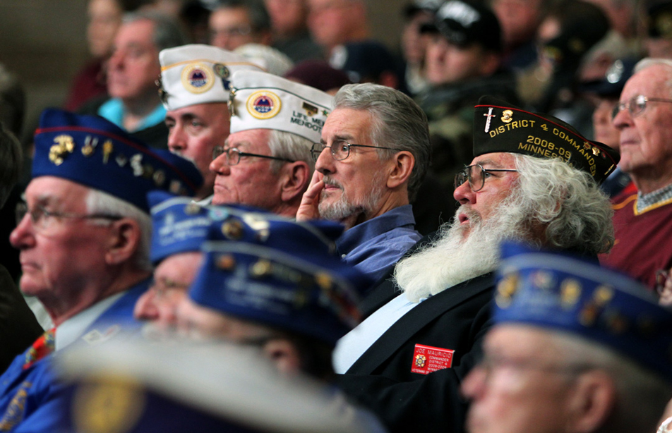 Crowd of veterans