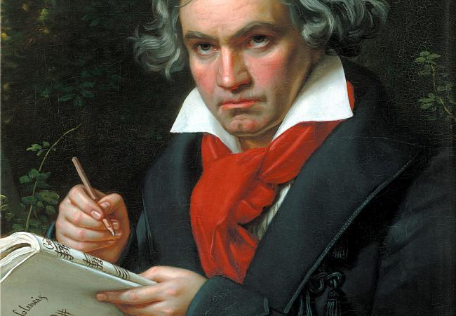 Ludwig van Beethoven when composing the Missa Solemnis (1820) - Joseph Karl Stieler (Courtesy of the Wikimedia Foundation)