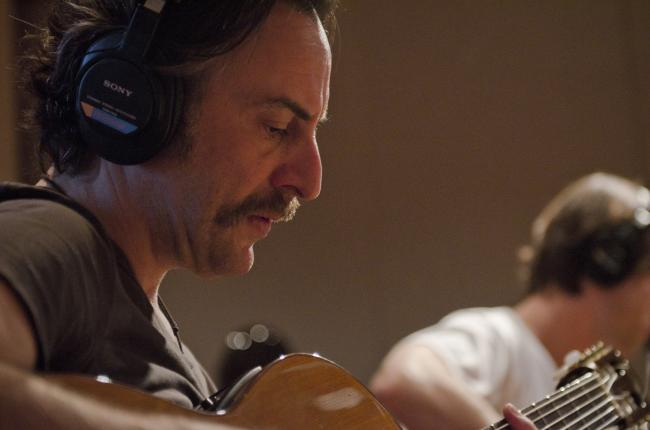 Zeke Zima on Spanish guitar performs with Diego Garcia in The Current studio.