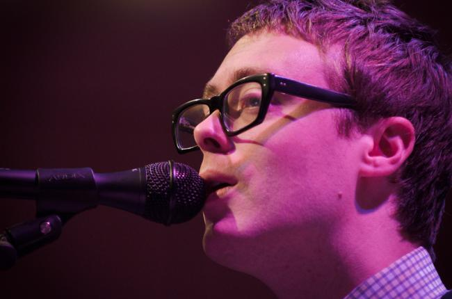 Jeremy Messersmith performing at Minnesota Public Radio.