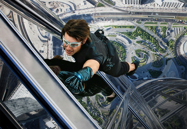 "A scene from ""Mission Impossible: Ghost Protocol."""