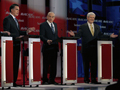 Mitt Romney, Ron Paul and Newt Gingrich