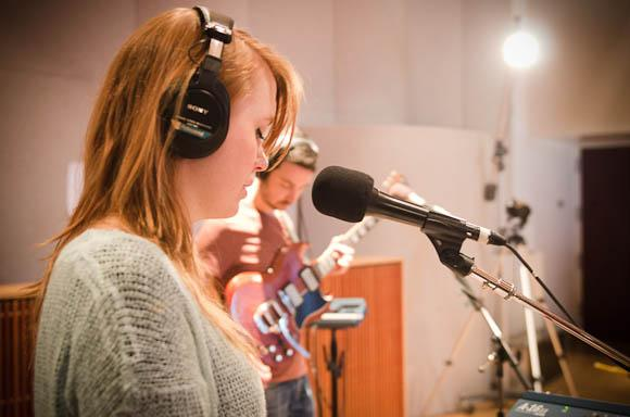 Cardiff, Wales-based seven-piece indie pop group Los Campesinos!