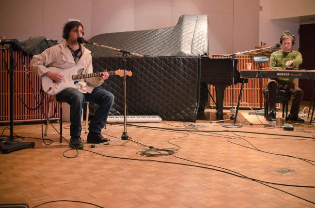 Cass McCombs performs in The Current studio