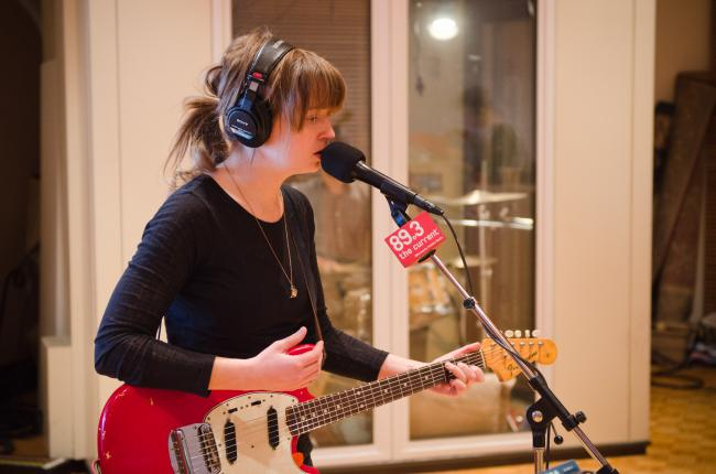 Holly Newsom of Zoo Animal performs in The Current studio.