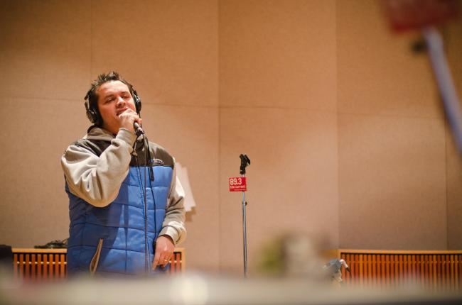 Atmosphere performs in The Current studio.