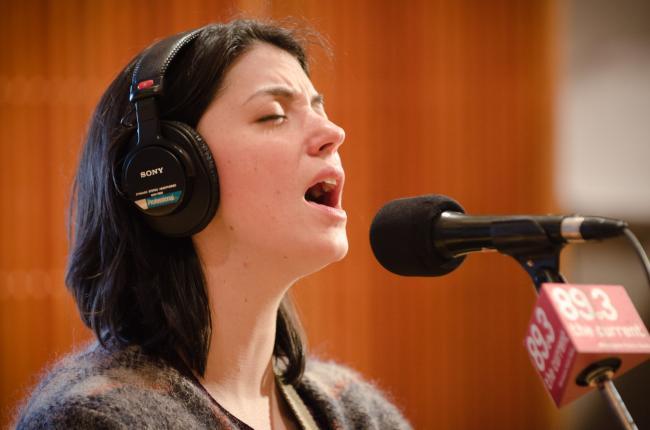 Sharron Van Etten performs in The Current studio.