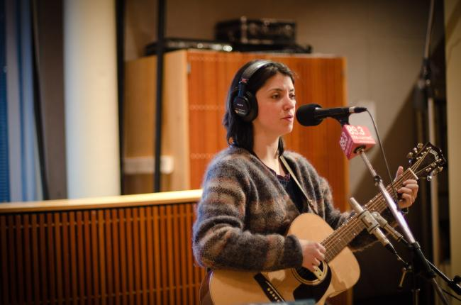 Sharron Van Etten performs in The Current studio.