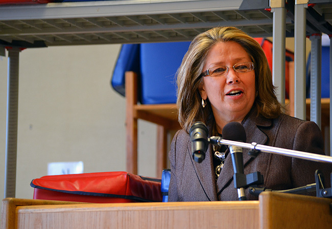 "Lt. Gov. Yvonne Prettner Solon announced a new statewide campaign to enroll more eligible Minnesotans on the federal Supplemental Nutrition Assistance Program. ""Thousands of Minnesotans, particularly seniors, are going hungry needlessly,"" Prettner Solon said. Only 41 percent of eligible Minnesota seniors receive food stamps."