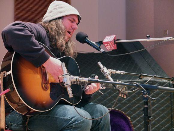 Erik Tasa performs in The Current studio.