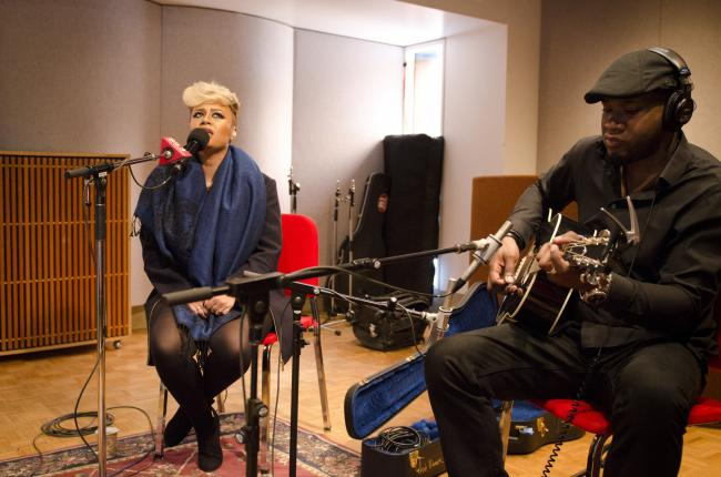 Emeli Sande performs in The Current studio.