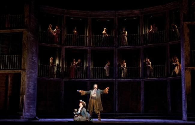 "A scene from the Met's new production of Mozart's ""Don Giovanni."" (Marty Sohl/Metropolitan Opera)"