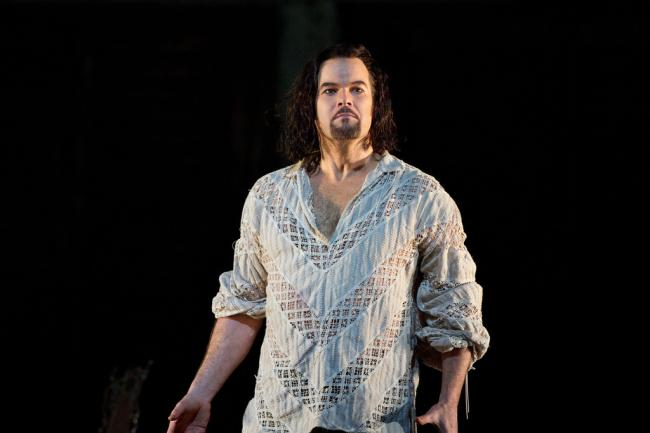 "Gerald Finley as the title character in Mozart's ""Don Giovanni."" (Marty Sohl/Metropolitan Opera)"