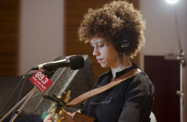 Chastity Brown performs in The Current studio.