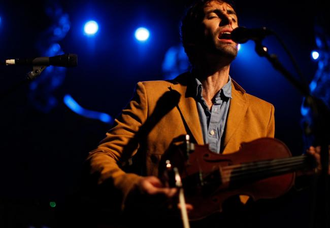 Andrew Bird performs a headlining set at Stubb's during SXSW 2012.