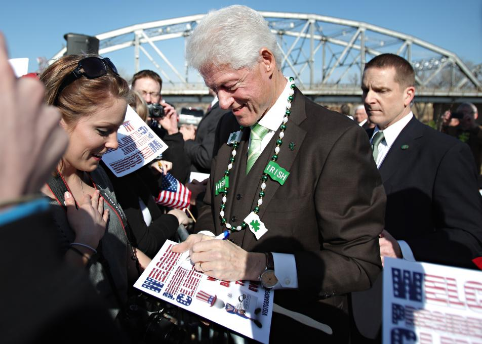 Bill Clinton in Grand Forks