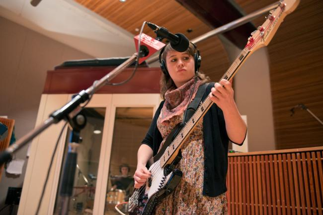 Sarah Nienaber of Is/Is performs in The Current studios