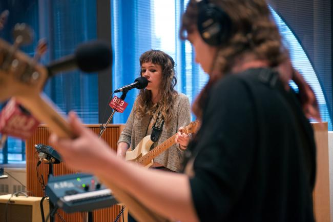 Sarah Rose and Sarah Nienaber of Is/Is performs in The Current studios