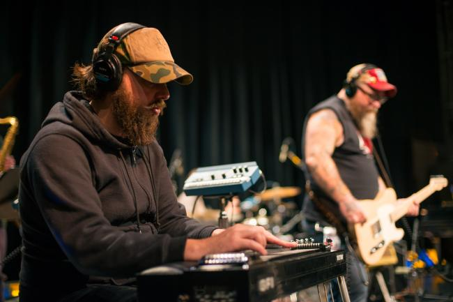 Lucero performs in The Current studios