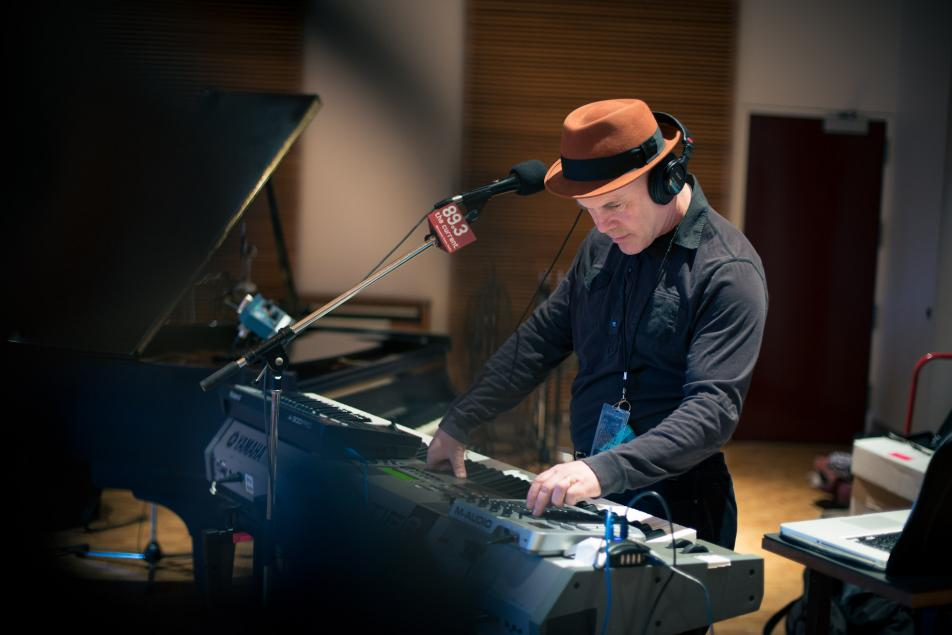 Synth-pop pioneer Thomas Dolby in The Current studio.