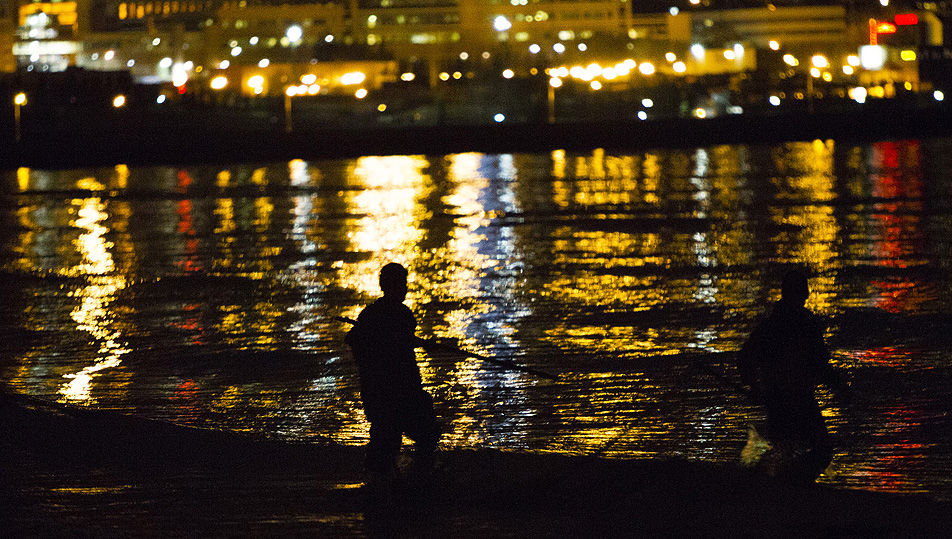 Smelt fishermen in Duluth