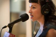 Tea Simpson of L'Assassins performs in The Current studios