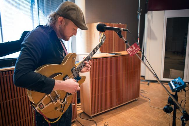 Ed Holmberg of Bloodnstuff performs in The Current studios
