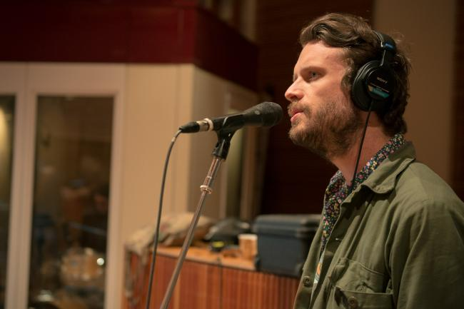 Father John Misty performs in The Currents studios