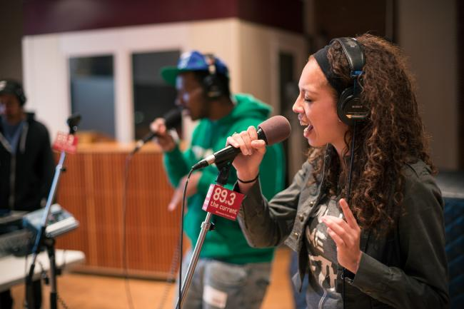 K.Raydio performs with MaLLy in The Current studios