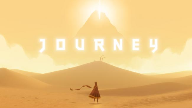 Screenshot from the game, Journey.