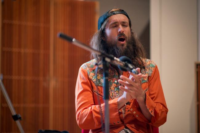 Members of Edward Sharpe and the Magnetic Zeros perform in The Current studio.