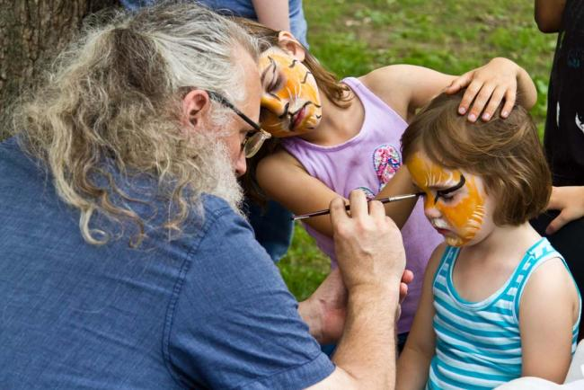 Face Painting at Harmony in the Park 2012 (MPR / Eamon Coyne)