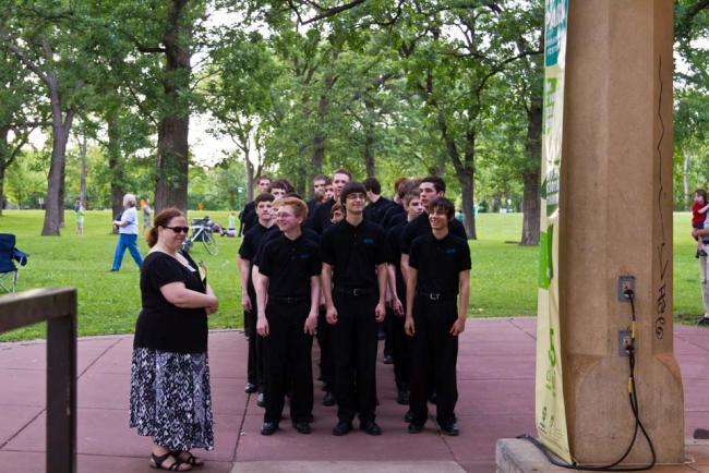 Minnesota Boy Choir at Harmony in the Park 2012 (MPR / Eamon Coyne)
