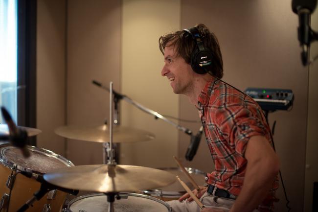 Matt Barrick drummer for The Walkmen.