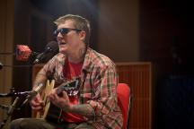 Brian Fallon of The Gaslight Anthem performs in The Current studios