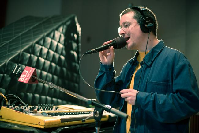Alexis Taylor of British electro-pop band Hot Chip.