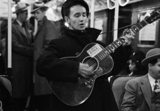 Guthrie on the NYC subway