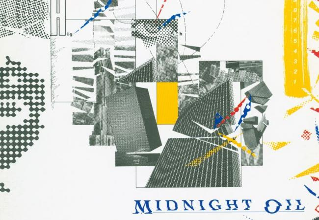 Album art for Midnight Oil's 10, 9, 8, 7, 6, 5, 4, 3, 2, 1