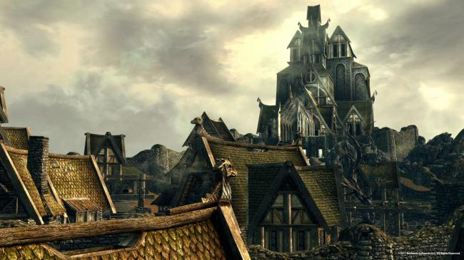 City of Whiterun in Skyrim (Bethesda Softworks LLC)