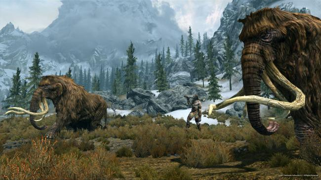 Mammoths and a Giant (Bethesda Softworks LLC)