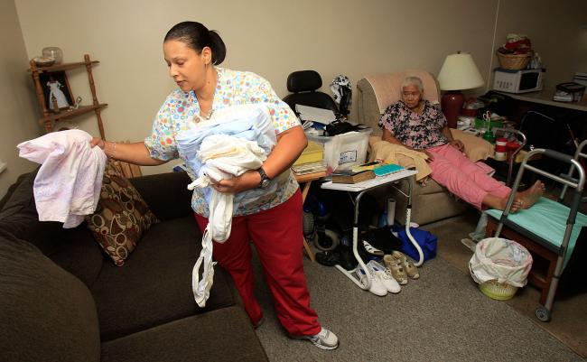 In-home care worker - courtesy of Minnesota Public Radio